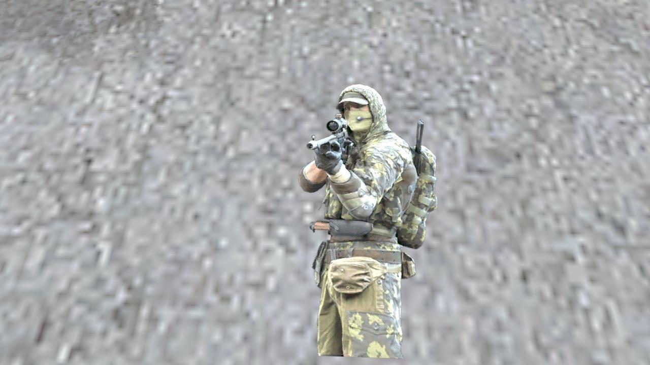 Классный спрей-обманка русский снайпер для counter-strike 1.6.