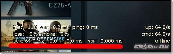 Поле с FPS в CS:GO