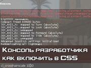 Командная консоль CSS