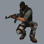 Спрей Террорист в полуприсяди